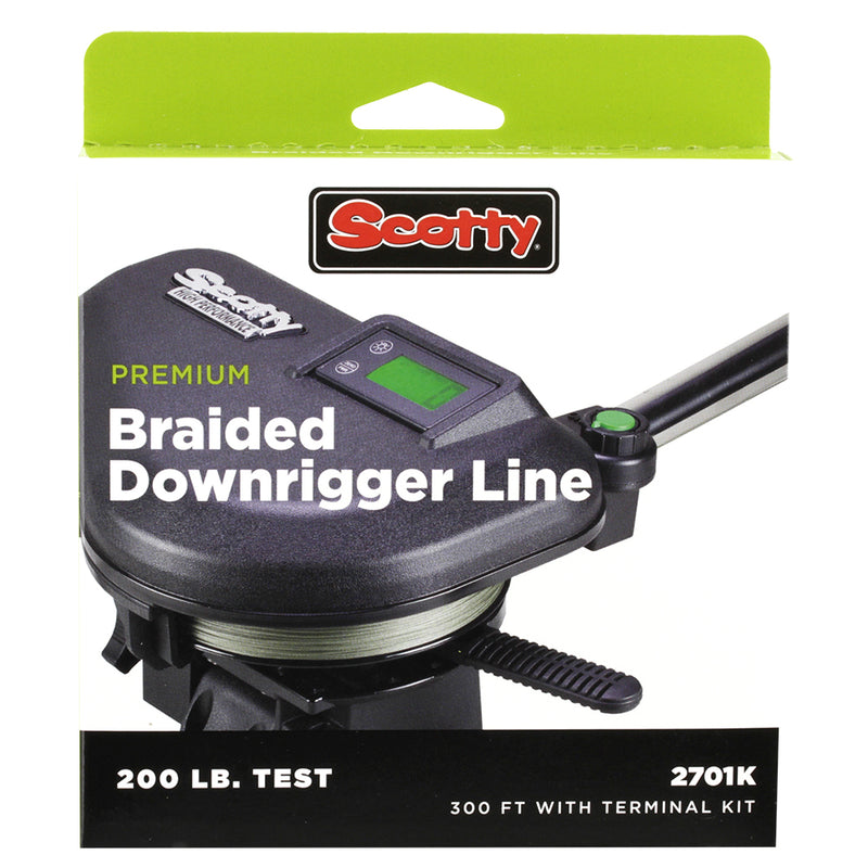 Scotty Premium Power Braid Downrigger Line - 400ft of 200lb Test [2702K]