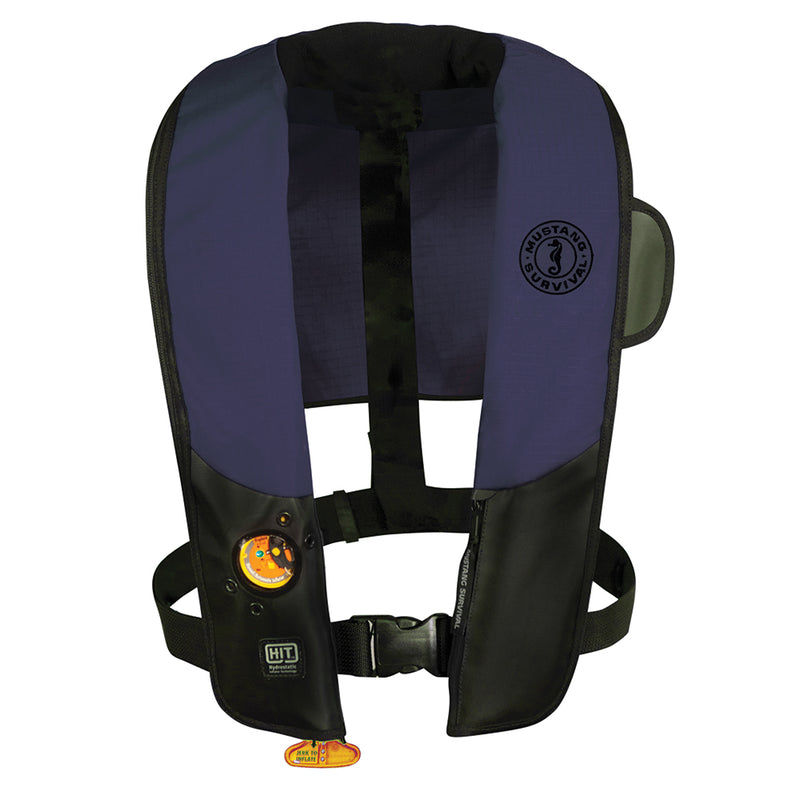 Mustang HIT Automatic Inflatable PFD - Law Enforcement Edition w/Customizable Back Flap  - Navy/Black [MD3183LE-151]