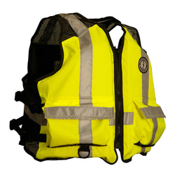 Mustang High Visibility Industrial Mesh Vest - Yellow/Black - 4XL-5XL [MV1254T3-4XL/5XL]