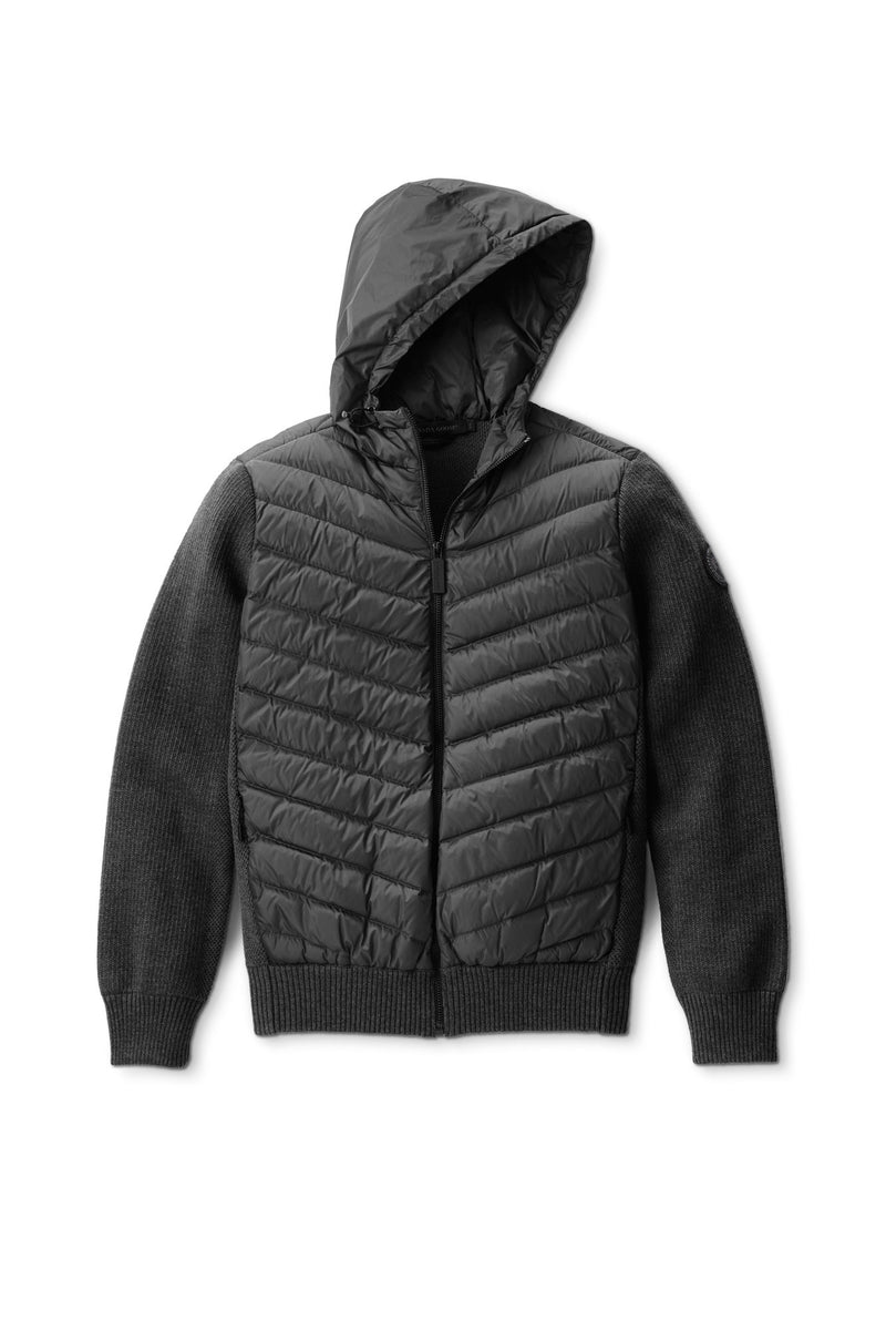 HYBRIDGE QUILTED KNIT HOODY BLACK LABEL