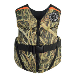 Mustang Rev Youth Foam Vest - 55-88lbs - Mossy Oak/Shadow Grass Blades [MV3570CM-261]