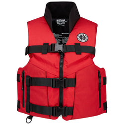 Mustang Accel 100 Fishing Vest - Medium - Red/Black [MV4626-M-123]