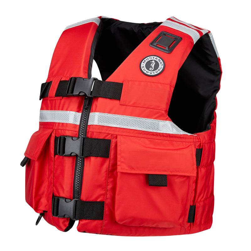 Mustang SAR Vest w/SOLAS Reflective Tape - Large - Red [MV5606-L-04]