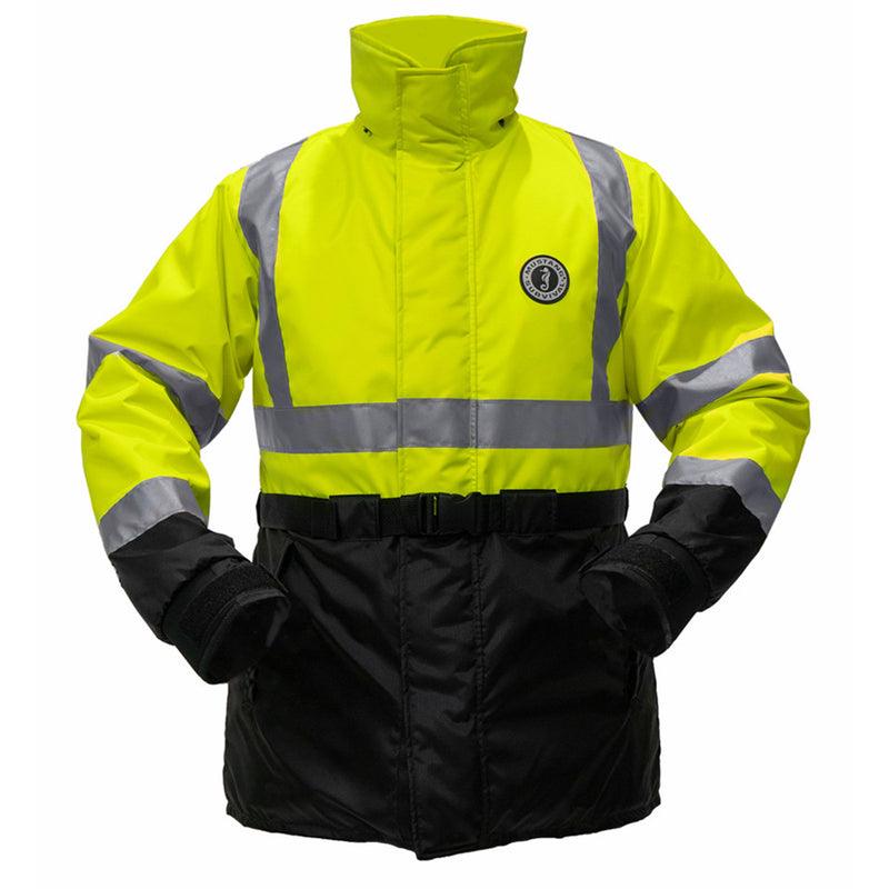 Mustang High Visibility Flotation Coat - Fluorescent Yellow/Green - Large [MC1506T3-L-239]
