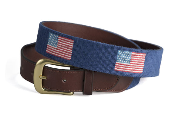 American Flag on Navy Belt