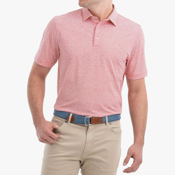 LYNDON STRIPED PREP-FORMANCE JERSEY POLO