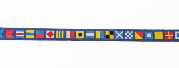 Nautical Flags on Navy Belt
