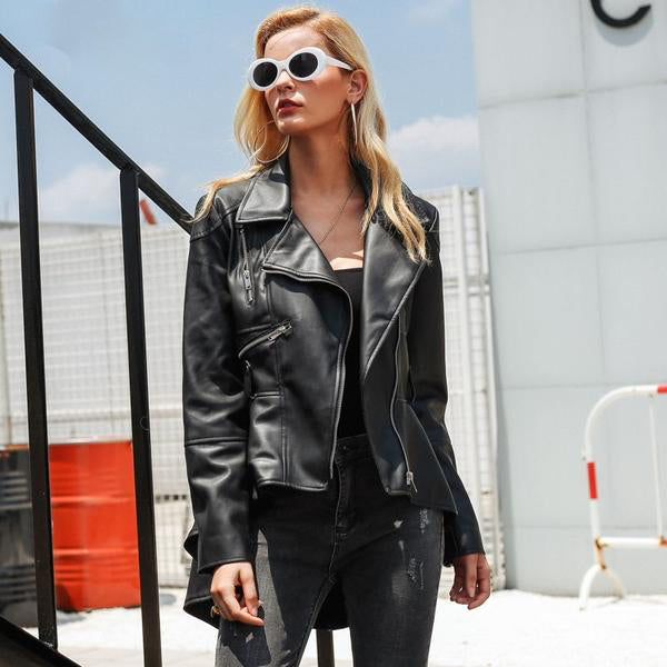 7028f381b8f9 Leather Suede Faux Leather Jacket