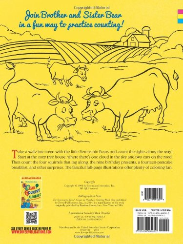 The Berenstain Bears\' Count On Numbers Coloring Book