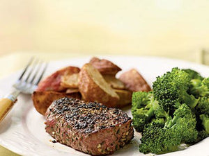 Filet Mignon with Fresh Herb and Garlic Rub