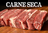 Carne seca embalada a vacuo / Dry Meat Packed on Vacuum