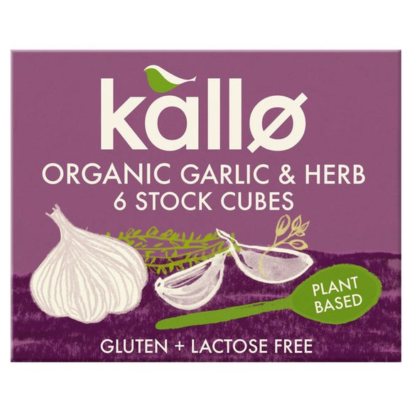 Kallo Organic Garlic & Herb Stock Cubes 6 x 11g