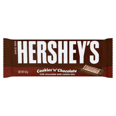 Hersheys Cookies N Chocolate Bar 43g - o-mercadin