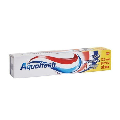 Creme Dental Aquafresh Tripla Proteção / Aquafresh Triple Protection Toothpaste 125 ml - o-mercadin