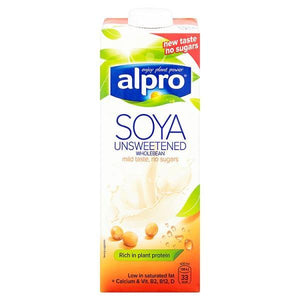 Alpro Dairy Free Soya Wholebean Longlife Milk Alternative 1L