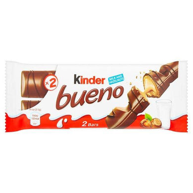 Kinder Bueno Milk and Hazelnuts 2 x 21.5g (43g)