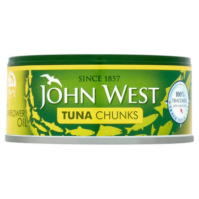 Atum / Tuna Chunks in Sunflower Oil 145g - John West - o-mercadin