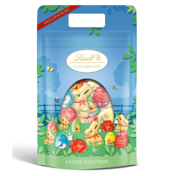 Lindt Milk Chocolate Easter Selection Pouch, 400g