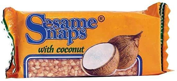 Sesame Snaps coconuts 4 X 30G
