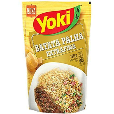 BATATA PALHA EXTRA FINA 120g / POTATO FRIES IN STICKS PREMIUN - YOKI - O Mercadin