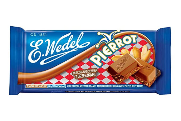 Milk Chocolate with peanut filling with pieces of peanuts | czekolada pierrot 100gr - E.WEDEL