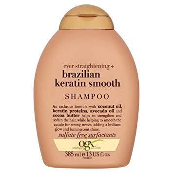 Shampoo Brazilian Keratin Smooth 385ml  - OGX - o-mercadin
