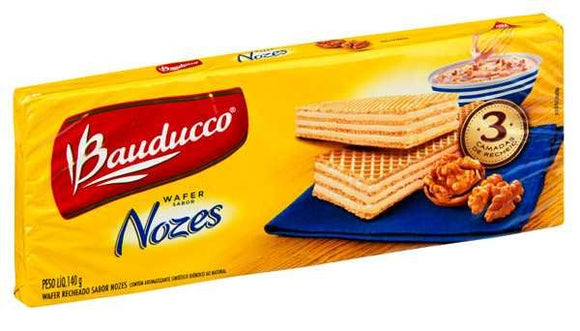 Walnut Wafer / BOLACHA WAFER Nozes 140G - BAUDUCCO