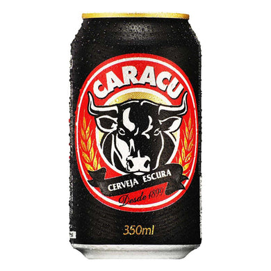 Cerveja CARACU Escura Lata / Stout Beer Can 350ml - o-mercadin