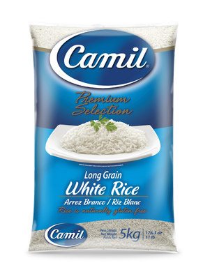 Arroz 5kg / White Long Grain Rice 5kg - CAMIL - O Mercadin