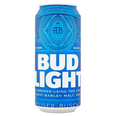 Bud Light Lager Beer Can 440ml - o-mercadin