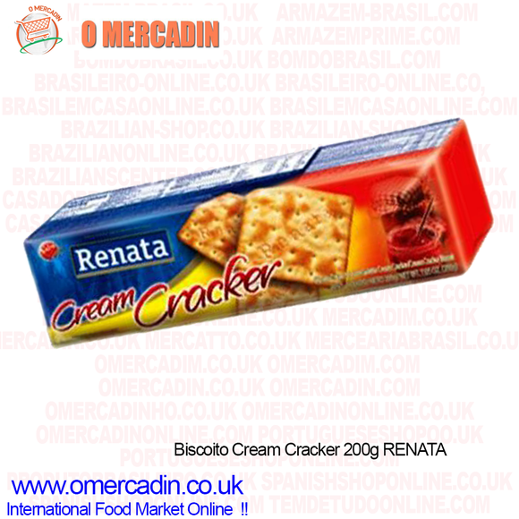 Biscoito Cream Cracker / Cream Cracker Biscuit 200g RENATA - O Mercadin