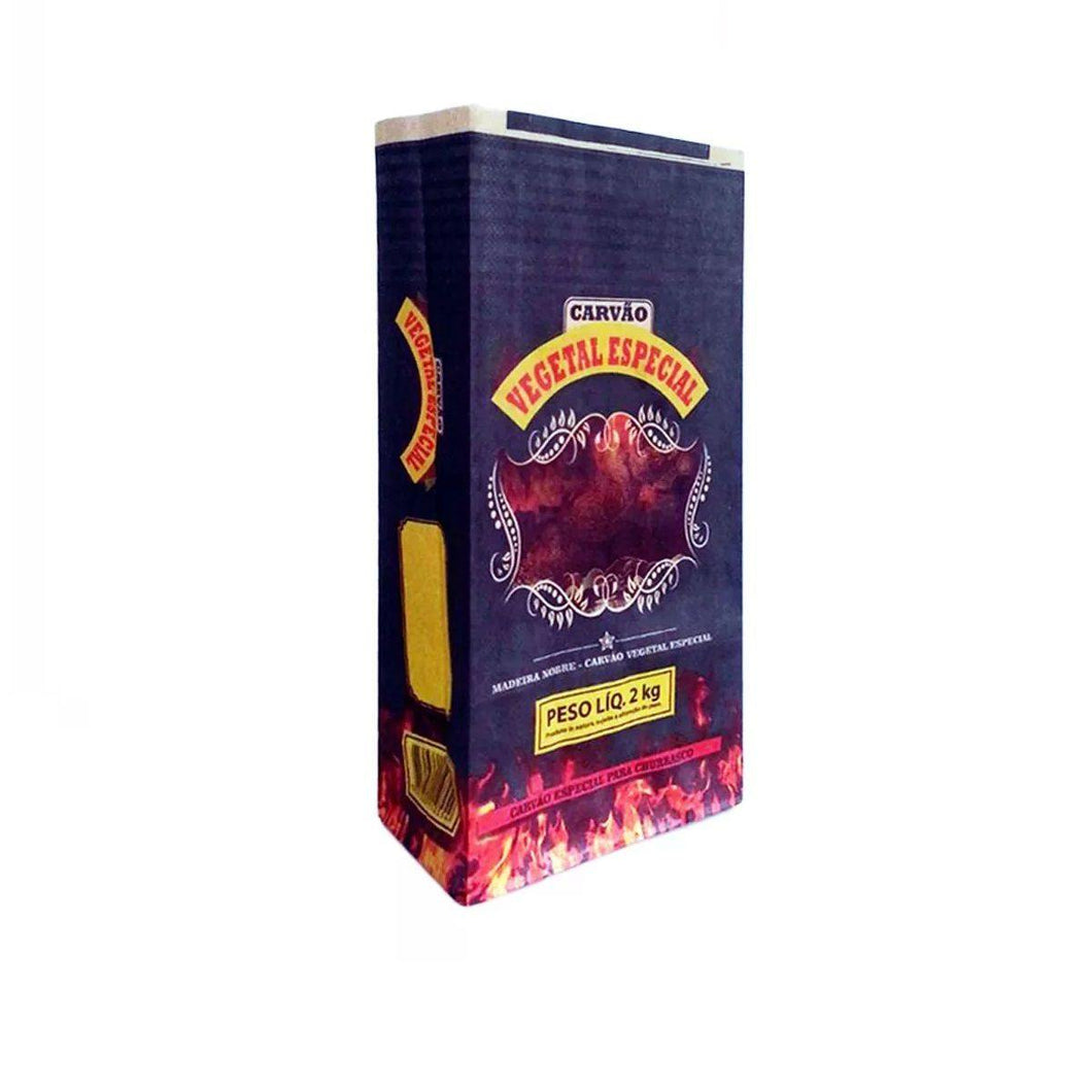 Carvao Vegetal  2kg / Vegetal Charcoal - TRATO REAL - o-mercadin