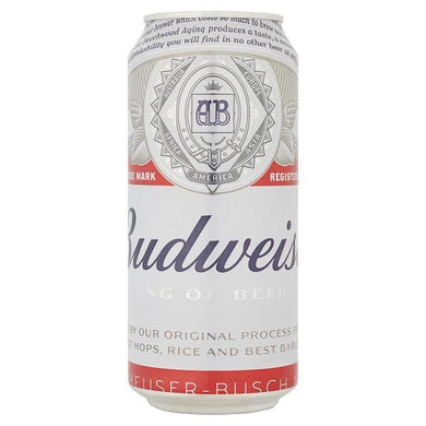 Budweiser Lager Beer Can  440ml - o-mercadin
