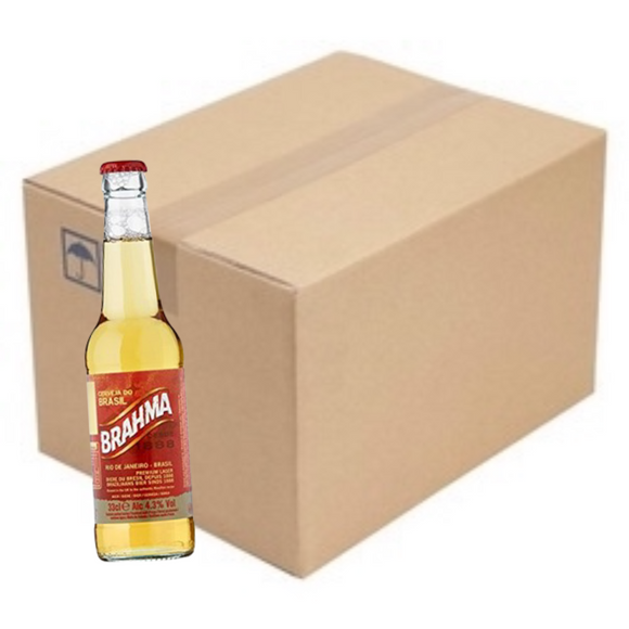 Pack of Cerveja Brahma 6 x 330ml / Longneck Beer