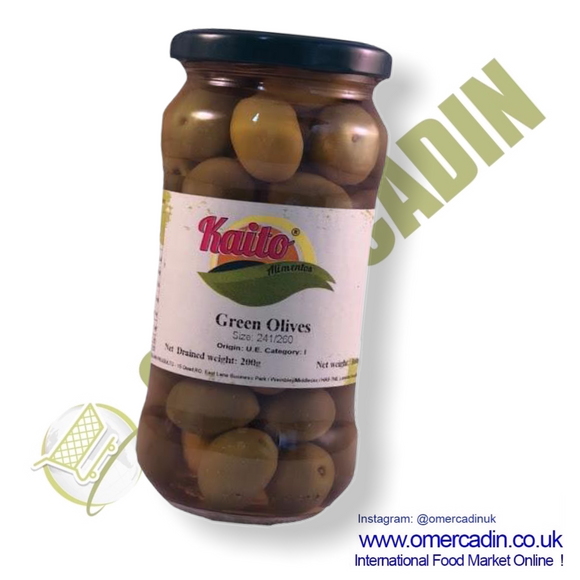 Pitted green Olives / Azeitonas s/caroço  200gr Kaito - O Mercadin
