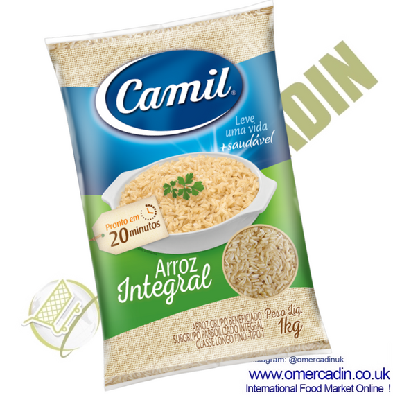 Arroz integral paraboilizado | Rice integral paraboiled 1kg - CAMIL