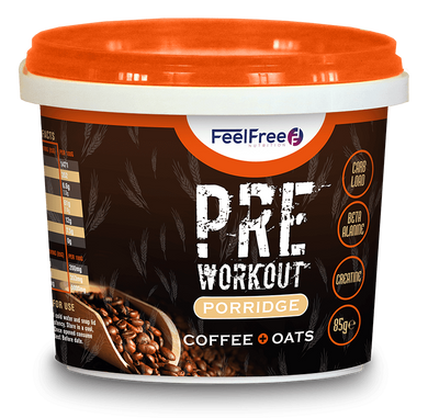 PRE WORKOUT COFFEE & OATS 85g - FEELFREENUTRITION - o-mercadin