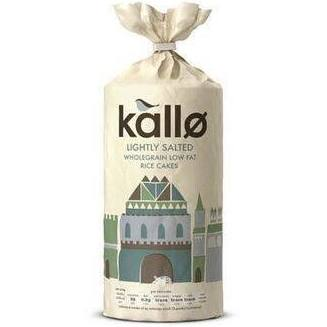 KALLO - Organic Thick Rice Cakes Lightly Salted 130G