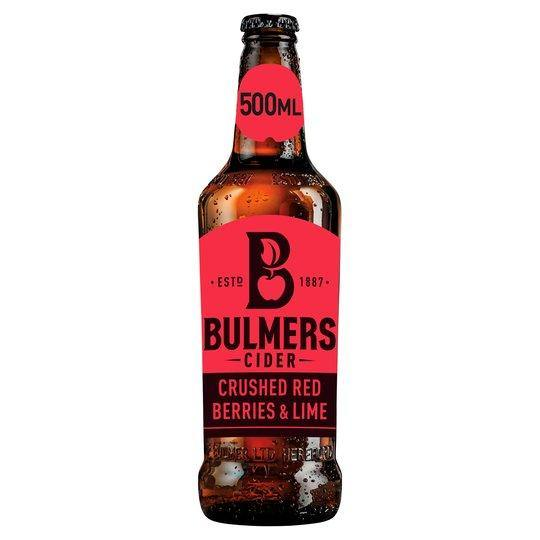 BULMERS RED BERRIES AND LIME CIDER - 500 ML