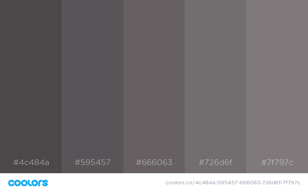 Techwear Color Palette Option B - NinjaDark