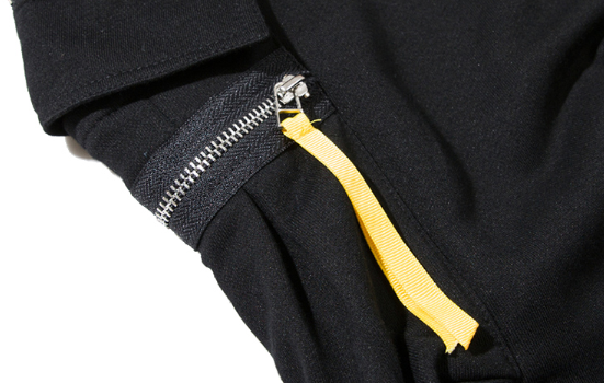 Tech God X2 - Yellow Zipper Tapered Techwear Cargo Pants - Ninjadark