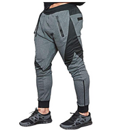 Grey Gym Breaker Techwear Joggers - Ninjadark