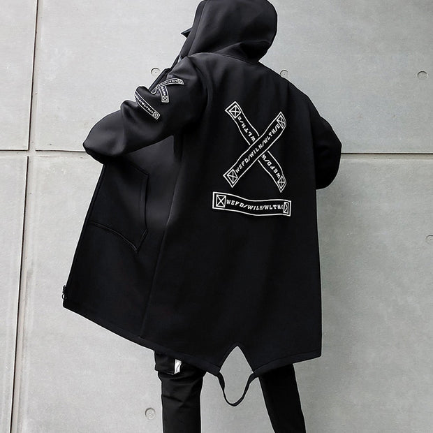 Harajuku Streetwear Hooded Windbreaker/Overcoat