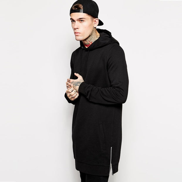 Long Fleece Hoodie w/ pockets