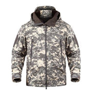Camouflage Military Tactical Jacket w/Hoodie
