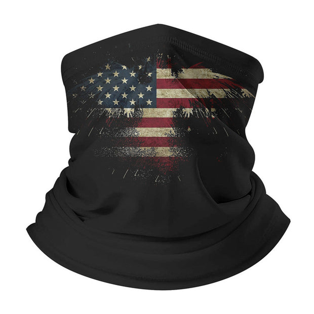 Black Men's Face Scarf - American Flag