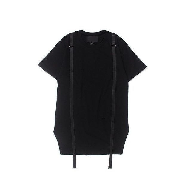 Dual Harness Techwear T-Shirt - Ninjadark