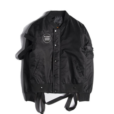 Urban Vibes III - Bomber Jacket With Arm Straps - Ninjadark