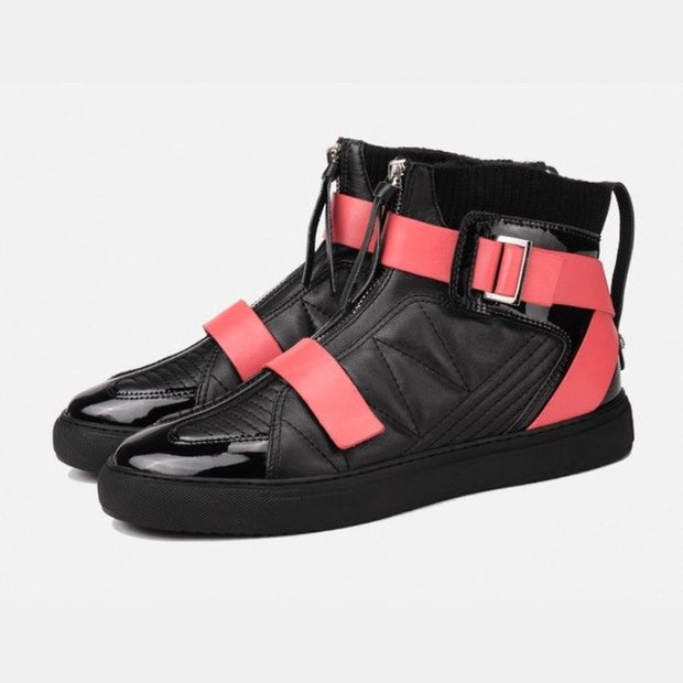 Multi Strap High Top Techwear Sneakers - Ninjadark