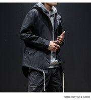 Dark Autumn - Techwear Windbreaker Jacket With Hoodie - Ninjadark